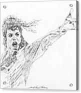 Michael Jackson Power Performance Acrylic Print