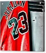 Michael Jordan 23 Shirt Acrylic Print by Florian Rodarte