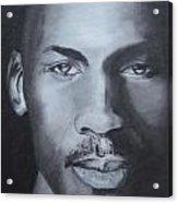 Michael Jordan Acrylic Print by Aaron Balderas