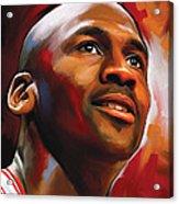 Michael Jordan Artwork 2 Acrylic Print by Sheraz A