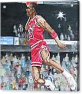 Michael Jordan Acrylic Print by Freda Nichols