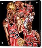 Michael Jordan Acrylic Print by Israel Torres