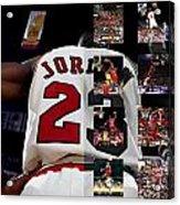Michael Jordan Acrylic Print by Joe Hamilton