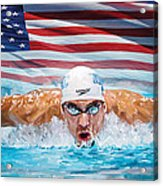 Michael Phelps Artwork Acrylic Print
