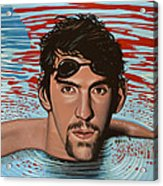 Michael Phelps Acrylic Print