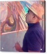 Michael Rosenblatt With A Holga Filter Acrylic Print