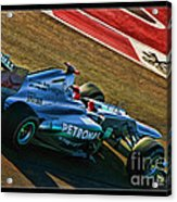 Michael Schumacher Silver Arrows Acrylic Print