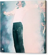 Micheal Jackson Performing On Stage Acrylic Print