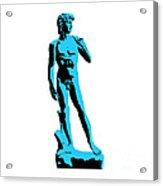 Michelangelos David - Stencil Style Acrylic Print by Pixel Chimp