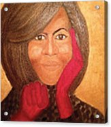 Michelle Obama Acrylic Print by Ginnie McKnight