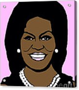 Michelle Obama Acrylic Print by Jost Houk