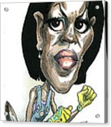 Michelle Obama Acrylic Print by Taylor Jones
