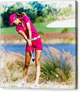 Michelle Wie Plays A Shot On The 6th Hole Acrylic Print