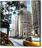 Michigan Avenue Chicago Illinois Acrylic Print