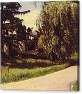Michigan Farmhouse Landscape Acrylic Print