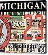Michigan License Plate Acrylic Print