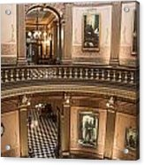 Michigan State Capitol 2 Floors Color Acrylic Print
