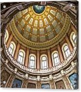 Michigan State Capitol Dome In Color  Acrylic Print