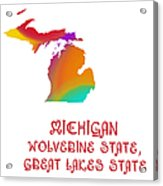 Michigan State Map Collection 2 Acrylic Print