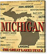 Michigan State Pride Map Silhouette  Acrylic Print