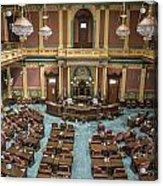 Michigan State Senate From Above  Acrylic Print