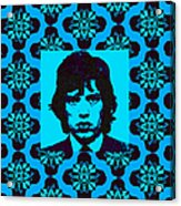 Mick Jagger Abstract Window P168 Acrylic Print by Wingsdomain Art and Photography
