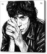 Mick Jagger Art Drawing Sketch Portrait Acrylic Print