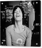 Mick Jagger Laughing Acrylic Print