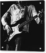 Mick Playing Rock Guitar In 1977 Acrylic Print