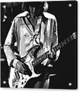 Mick On Guitar 1977 Acrylic Print