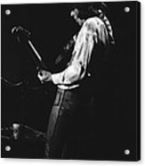 Mick On The Guitar 1977 Acrylic Print