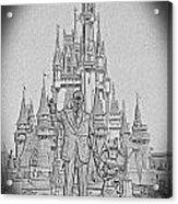 Mickey And Walt At The Park Acrylic Print