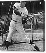 Mickey Mantle Poster Acrylic Print