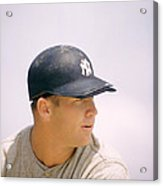 Mickey Mantle Ready To Swing Acrylic Print by Retro Images Archive