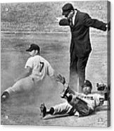 Mickey Mantle Steals Second Acrylic Print
