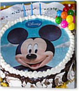 Mickey Mouse Cake Acrylic Print