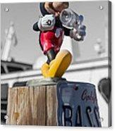 Mickey On A Post Acrylic Print