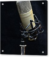 Microphone On Black Acrylic Print