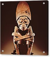 Mictlantecuhtli Lord Of Mictlan Remojadas Style, From Los Cerros, Tierra Blanca, Vera Cruz Pottery Acrylic Print