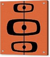 Mid Century Shapes 2 On Orange Acrylic Print
