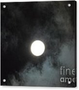 Mid-december Moon Acrylic Print