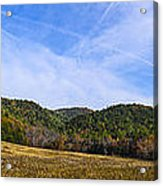 Mid-morning Panorama At Cades Cove Acrylic Print