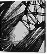 Mid Span  In Black And White Acrylic Print