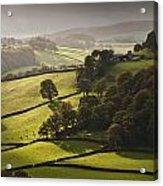Mid Wales Autumn Landscape Acrylic Print