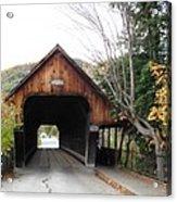 Middle Bridge Front Woodstock Vermont Acrylic Print