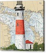 Middle Island Lighthouse Mi Cathy Peek Nautical Chart Art Acrylic Print