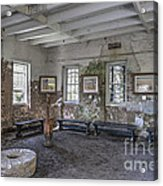 Middleton Place Rice Mill Interior Acrylic Print