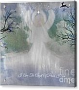 Midnight Angel Of Peace Acrylic Print by Sherri  Of Palm Springs