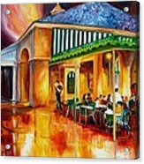Midnight At The Cafe Du Monde Acrylic Print