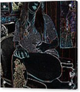 Midnight Barber Acrylic Print